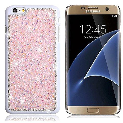 Galaxy Note 3 Hülle,TechCode® Crystal Strass Hülle Glitter Schutzhülle,Schönheit Luxus Glänzend Funkeln Bling Bling Handwerk Kristall Strass Diamant Überzug Plating Hard Hülle Case Tasche (Note 3, Rosa)