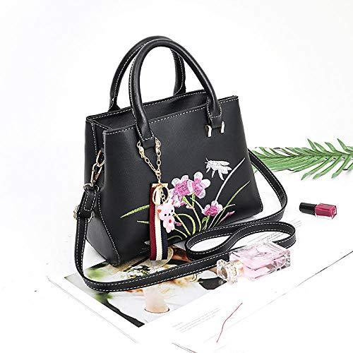 Fyyzg Single Shoulder Messenger Bag Damen Tasche small Fashion Single Shoulder wild - Pure Black