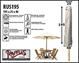 Raffles Covers RUS195 Sonnenschirmhülle mit Stab für Kleine Mittelstockschirme Abdeckhauben für Sonnenschirm, Schutzhülle Ampelschirm, Abdeckhaube Sonnenschirm