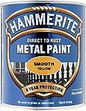Hammerite Metallfarben-glatte 750ml Gelb