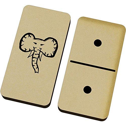 Azeeda 'Cara de Elefante' Domino Juego y Caja (DM00000263)