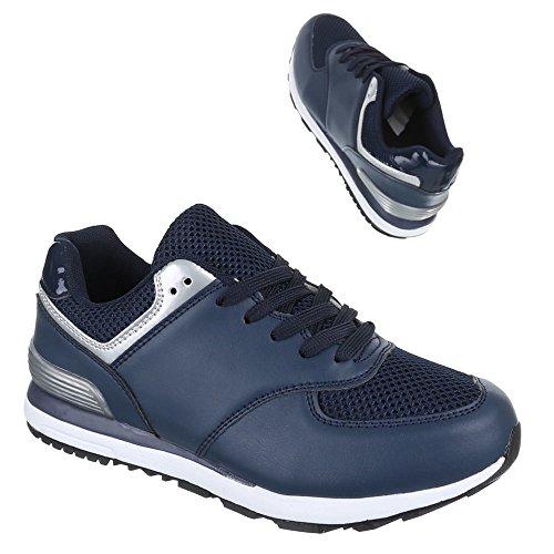 Chaussures femme, 769–8, loisirs chaussures sneakers chaussures de sport Bleu - Bleu