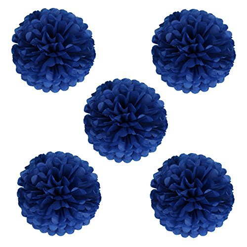 Navy wedding decorations amazon vlovelife 10 inch tissue paper pom poms garlands paper ball paper flowers for wedding party birthday baby shower decorations pack of 10 navy blue junglespirit Gallery