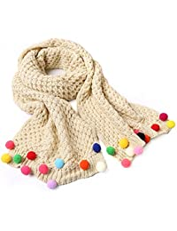 Fletion Enfant Toddler Enfants Bonbons Color Ball Doux tricot Warmer Echarpes charpe