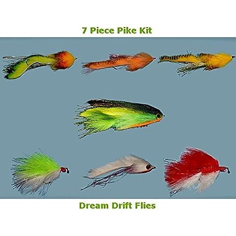 Pike-Esche per pesca a mosca, 7-Assortimento di esche