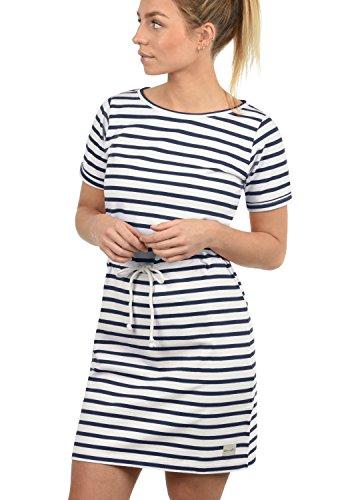 BlendShe ENA Damen Sweatkleid Sommerkleid Kleid Mit Rundhals Aus 100% Baumwolle, Größe:L, Farbe:Mood Indigo (20064) -