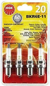 4 candele NGK bkr5e-11 per Chevrolet Daewoo HYUNDAI KIA MAZDA NISSAN