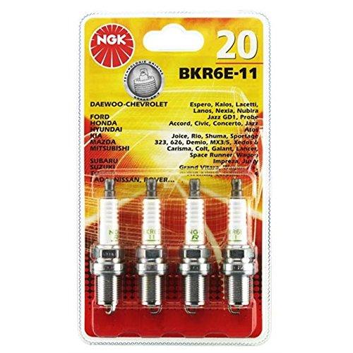 Preisvergleich Produktbild NGK NGK20 Blister 4 Zündkerzen Bkr6E-11
