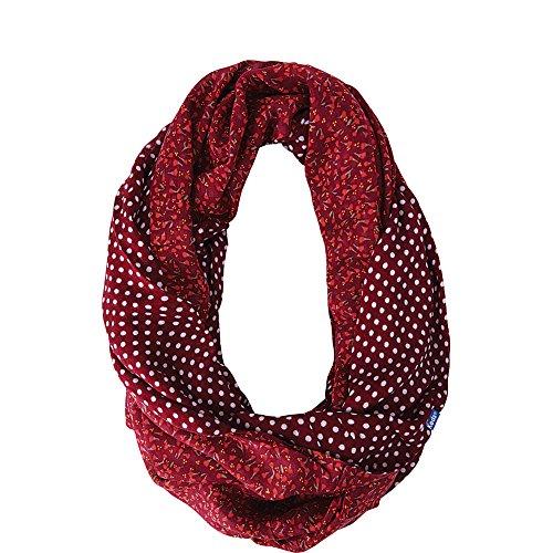 Keds Women's Reversible Printed Infinity Scarf Beet Red