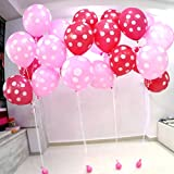 Balloon Junction PINK & RED Polka Dot Ba...