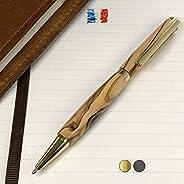 Penna in legno d'Ulivo, prodotta artigianalmente in Francia. Possibilità di incisione personalizzata. Confezio