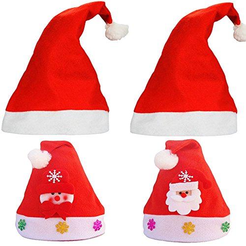 Weihnachten Hüte Nikolaus Mütze Deko Kinder-Nikolausmütze aus Plüsch (Weihnachten Hüte Für Erwachsene)
