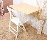 SoBuy Mesa de cocina, mesa plegable de pared, mesa de madera, mesa de comedor, mesa de pared,...
