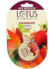 Lotus Herbals Lip Balm, Strawberry, 5g