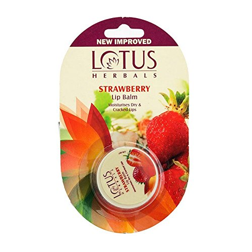 Lotus Herbals Lip Balm, Strawberry, 5g