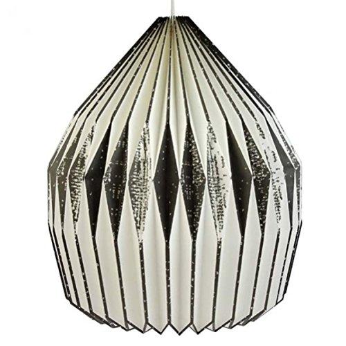 Origami luce vestito Dome Edges-in bianco e