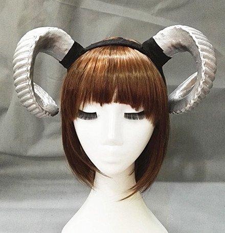 Changlesu Gothic Schafe Horn Punk Stirnband Wald Tier Fotografie Cosplay Foto Requisiten Steampunk Haar Zubehör (Silber)