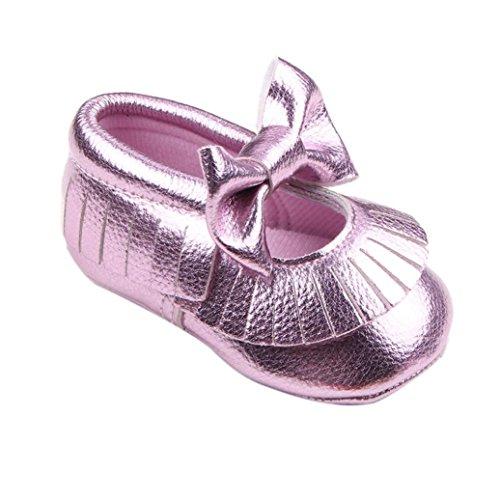 Tefamore Baby Girl Krippe Bowknot Schuhe Casual Schuhe Lila Qrbl1