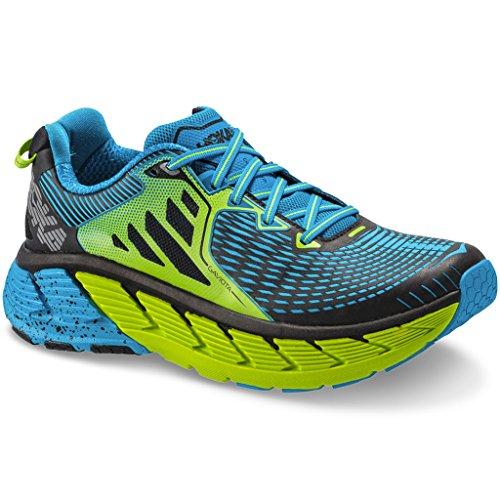 Hoka One One Gaviota Azul y Verde Zapatillas de Running, Azul