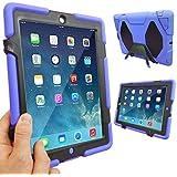 Coque Protection Robuste Antichoc Robuste pour téléphones et tablettes - Bleu, Apple iPad Air