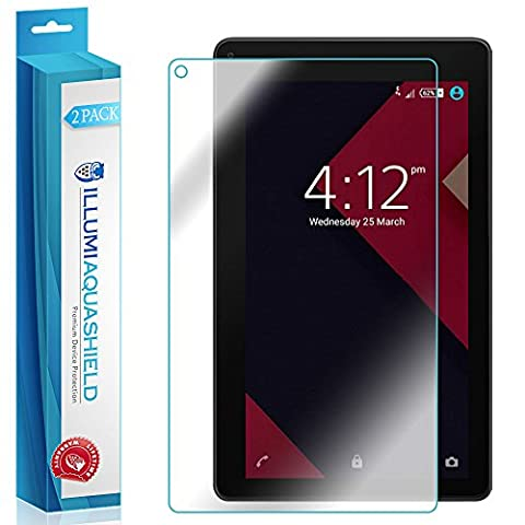 RCA 7 Voyager II Screen Protector [2-Pack], ILLUMI AquaShield Full Coverage Screen Protector for RCA 7 Voyager II HD Clear Anti-Bubble