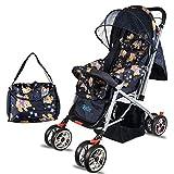 #1: BabyGo Delight Reversible Baby Stroller & Pram with Mosquito Net, Mama Diaper Bag & Wheel Breaks (Teddy Bear)