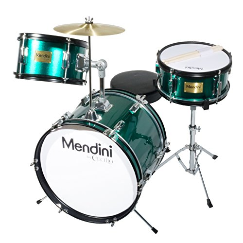 mendini-mjds-3-gn-junior-drum-set-green