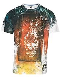 Huetrap Men's Spirit Of The Sun Skull Print T-shirt