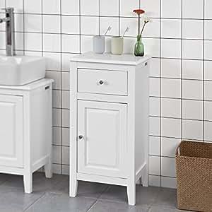 sobuy frg206 w badkommode badschrank kommode mit t r und. Black Bedroom Furniture Sets. Home Design Ideas