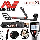 Minelab - Détecteur Go-find 60avec sac de transport, besace à trouvailles, truelle, support pour téléphone intelligent et oreillettes