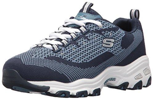 Scarpe sportive Skechers D'Lites per donna in tessuto blu Navy