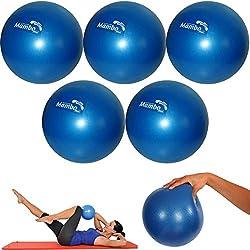 5piezas MSD pelota 26cm Suave + 2tapones + sorbete Pilates Gimnasia Yoga Gym azul