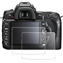 Protezioni di schermo per Nikon D90, AFUNTA 2 Pacchetto anti-graffio in vetro temperato da pellicole protettive per DSLR