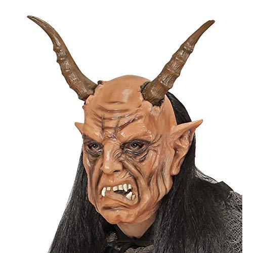 Widmann - Teufelsmaske mit Perücke (Krampus Kostüm)