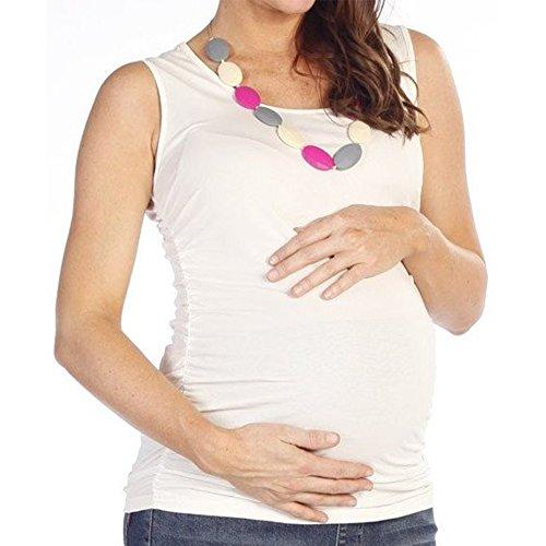 Angel Maternity Damen Top Weiß Weiß (Angels Tank Weiß Top Damen)