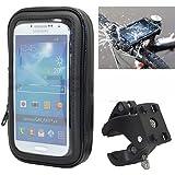 iBroz® - Support Moto universel, Scooter Tmax etc... Vélo sur guidon ou tableau de bord avec Housse étanche pour gamme SAMSUNG GALAXY Trend, S3, S4, S5, S6, A3, Alpha, iPhone 5, 6, GOOGLE NEXUS 4,5, Nokia LUMIA, Sony XPeria Z.. (Max : 7 cm x 13,9 cm)