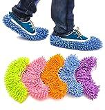 Xiaoyu 10PCS (5 Paar) Unisex Multifunktions-Schuhüberzug für Wischmoppschuhe, ideal für Bad, Büro, Küche, 5 Farben