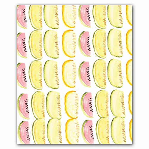 Fruit Cocktail Quicknotes, Museum Quality Full-Color Notecard Set in a Reusable Gift Box with Magnetic Closure