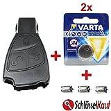 KONIKON 3 Tasten Autoschlüssel Reparatur SET Gehäuse + 2x Batterie + 3x Mikrotaster Neu