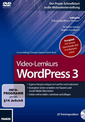 Preisvergleich Produktbild Video-Lernkurs WordPress 3