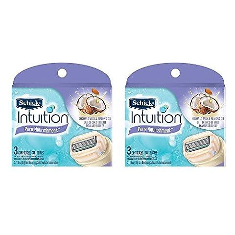 Schick Intuition Pure Nourishment Coconut Milk & Almond Oil Razor Blade Refill Cartridges, 6 count