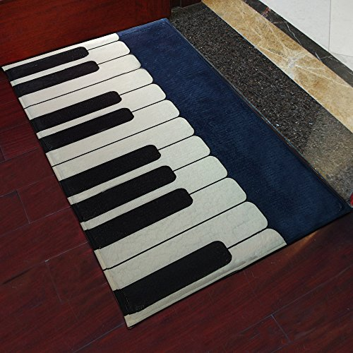 yazi Piano Muster Fußmatten Indoor Outdoor Teppich Home Dekoration 40 x 60 cm
