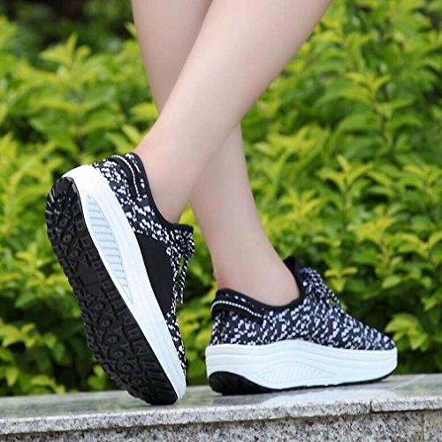 Solshine , chaussures compensées femme Schwarz