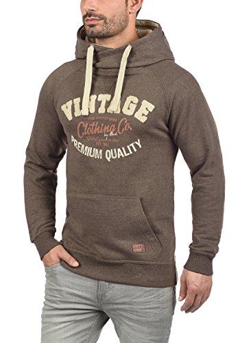 BLEND Alejandro Herren Kapuzenpullover Hoodie Sweatshirt aus hochwertiger Baumwollmischung Mocca Mix (70816)