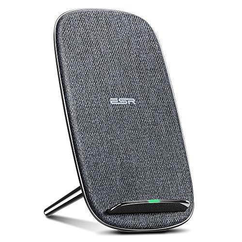 ESR Wireless Charger,10W Schnellladungen Induktions Ladegerät kompatibel mit Samsung S10/S10+/S10e/S9/S9+/S8/S8+,5W Standard-Aufladung für iPhone XS Max/XR/XS/X/8/8+,P30 Pro,AirPods.