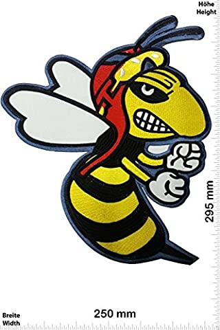 Patches - Rally - Bad Ass Wasp - Vespa - 29 cm - BIG - BIGPatches - Rocker - Biker - Vest - Iron on Patch - Applique embroidery Écusson brodé Costume Cadeau- Give Away