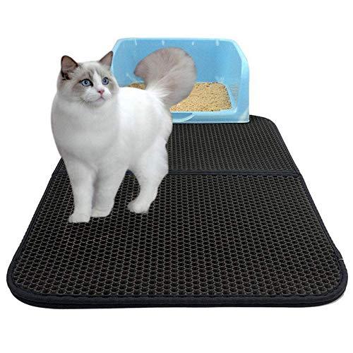 Drybely Colchoneta para Gatos, Plegable Doble Capa Impermeable Trampa para Gatos Trampa para Orificios Agujeros más Grandes Trampas fáciles de Limpiar Canastilla para Gatos (M-Plegable)
