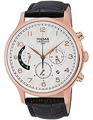Pulsar Herren-Armbanduhr XL Classic Analog Quarz Leder PU6010X1