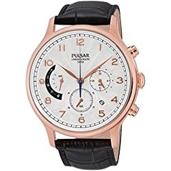 Pulsar Men's Quartz Watch Classic PU6010X1 with Leather Strap