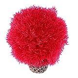 Sharplace Piante Acquatiche Acquatico Decorazione Plastica Vegetali Forniture PET Complimenti Ornamento Auario Elegante - Rosso, Grande